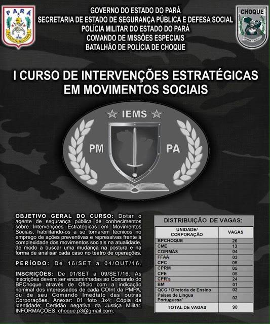 PM do Pará se especializa na repressão aos movimentos sociais