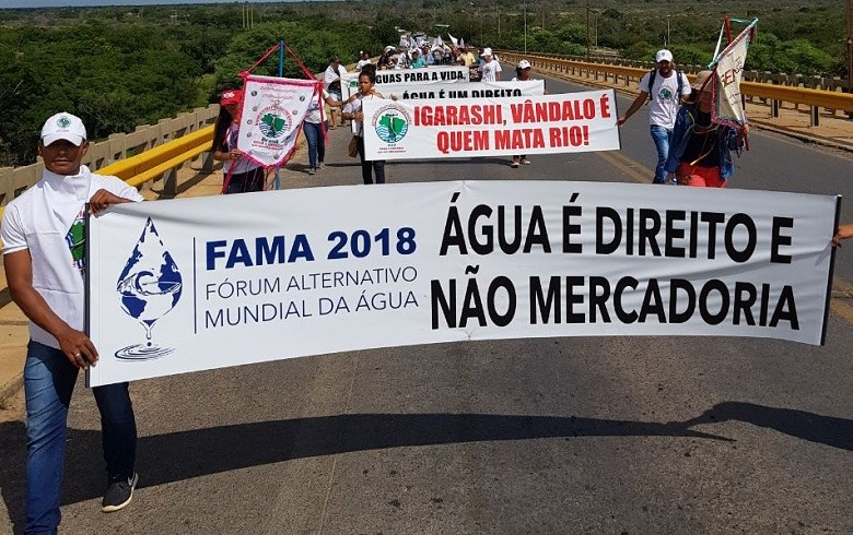NÃO AO HIDRONEGÓCIO: Maior fórum alternativo, Fama 2018 reafirma defesa da água para todos