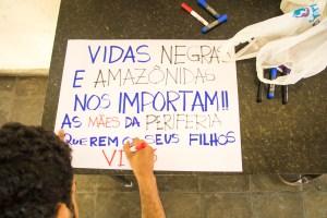 """Ato """"Chega de Genocídio da População Negra"""" em Belém/Pará"""