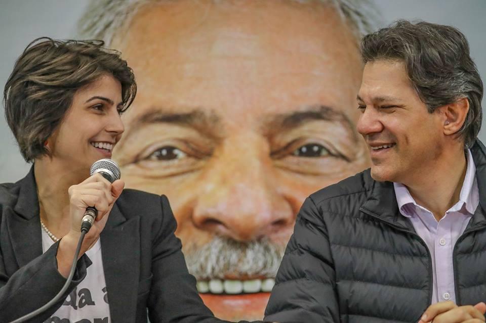 Manuela e Haddad: unidos para construir saídas para o Brasil